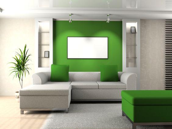 Otra opción si buscamos crear ambientes con apariencia fresca e iluminada, es recomendable combinar el verde con tonos claros como el blanco.