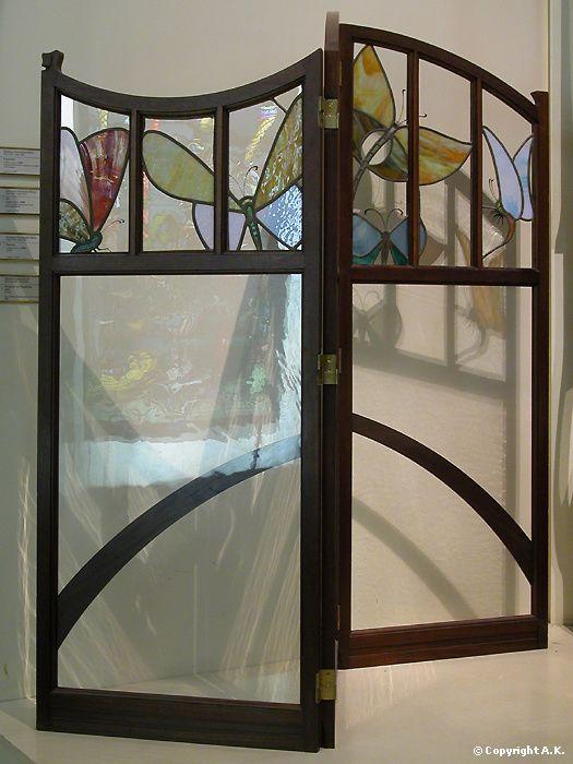 gustave serrurier bovy paravent art nouveau mobilier belge arts art nouveau jewels. Black Bedroom Furniture Sets. Home Design Ideas