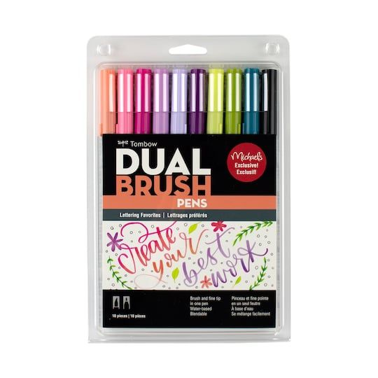 Tombow Dual Brush Pens Lettering Favorites Tombow Dual Brush
