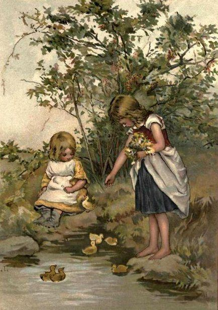 Lizzie Lawson (1867 – 1902, English)  Little Ducks: