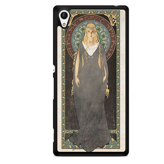 Art Nouveau Galadriel The Lady Of Light TATUM-981 Sony Phonecase Cover For Xperia Z1, Xperia Z2, Xperia Z3, Xperia Z4, Xperia Z5