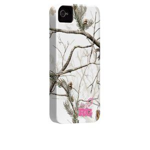 iPhone 4 / 4S Barely There Case - Realtree Camo - APS Snow