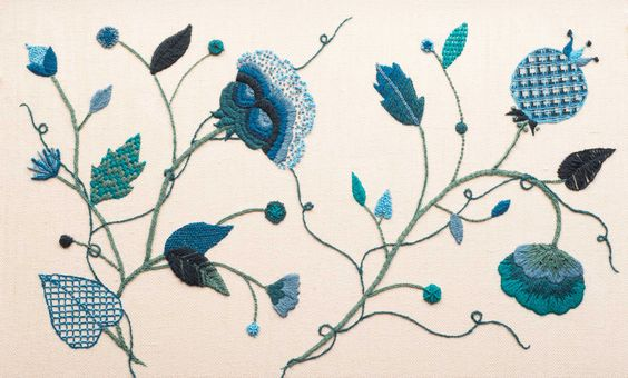 Jacobean Crewelwork by BA(Hons) Hand Embroidery for Fashion, Interiors, Textile Art First Year Student Connie Wynn