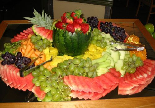 Fruit Trays For Wedding Receptions Many Platters Of And Vegetables