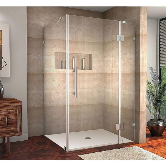 Aston Avalux 48 In X 36 In X 72 In Frameless Shower Enclosure In Chrome With Self Closin Frameless Shower Enclosures Shower Enclosure Frameless Shower Doors