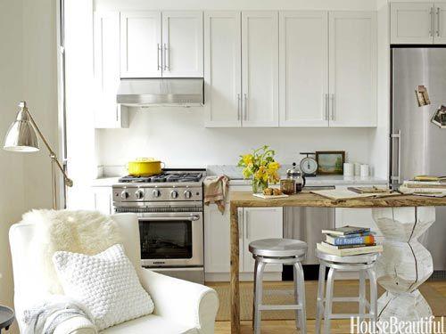 Studio Apartment Kitchen - Small Kitchen Decor Ideas - House Beautiful#slide-1#slide-2