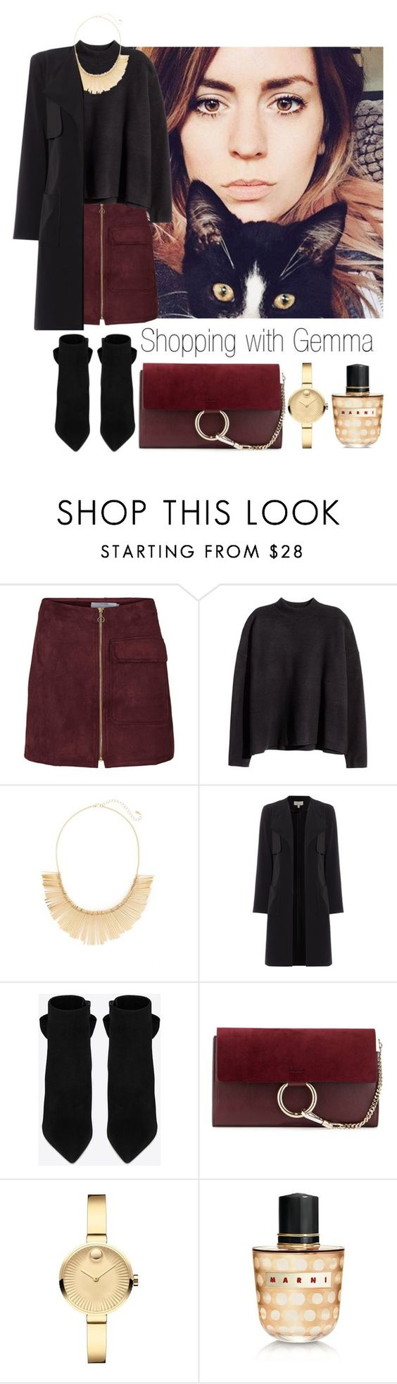 """Shopping with Gemma Styles"" by tonioverthetop ❤ liked on Polyvore featuring H&M, Panacea, Yves Saint Laurent, Chloé, Movado and Marni"