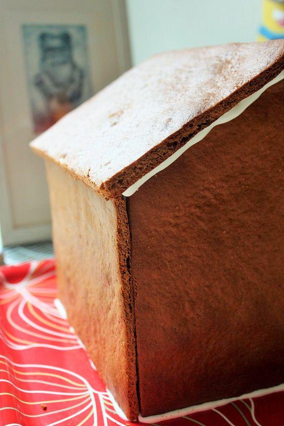 Lebkuchenhaus Detailansicht ohne Schmuck.