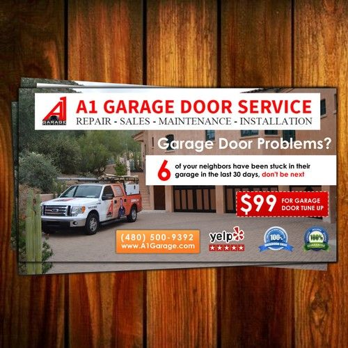 Create A 11 X 6 Garage Door Flyer Postcard Flyer Or Print Contest Postcard Flyer Print Design Garage Doors Flyer Flyer Printing