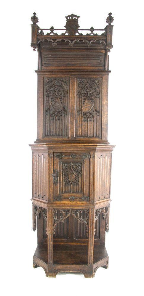 Ornate Gothic Cabinet Antique, Gothic Cabinet Furniture
