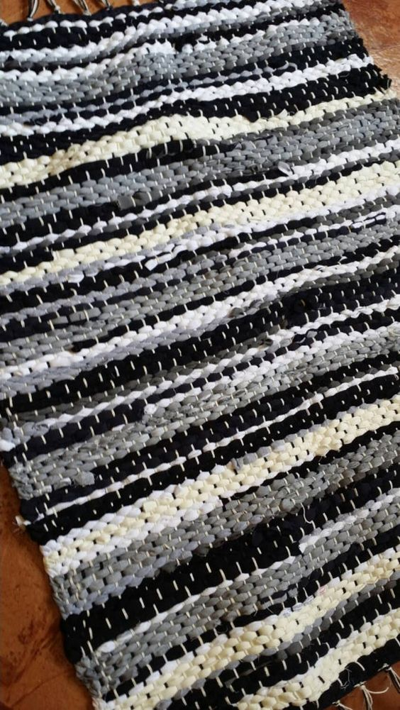 Black, white and Gray Check out this item in my Etsy shop https://www.etsy.com/listing/239543447/black-white-and-gray-handwoven-rag-rug