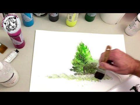 Artez Tv Programa 32 Cuadro Con La Técnica Mixed Media Sellos Y Stencils Sobre Ma Como Pintar En Oleo Pintura Acrilica Tecnicas Paisajes Para Pintar Faciles