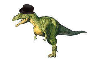 A very dapper T-rex