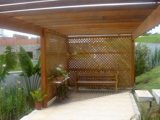 trelica jardim madeira:treliça de madeira para as orquídeas