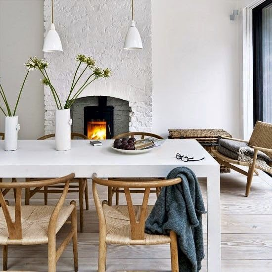 Décor de inverno: lareiras
