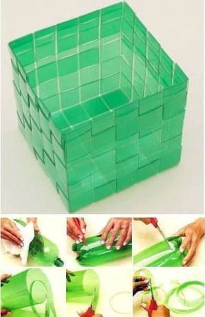 Diy project make a weave basket using plastic bottles reuse recycle pinterest bottle - Diy projects using plastic bottles ...