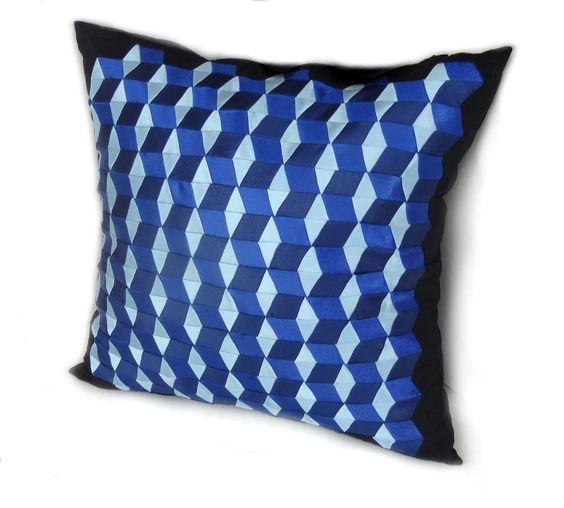 """pillow case, 18 / 18"""", #decorative #pillows, throw pillows, #3D #volumetric, sofa cushions, #pillowcase, pillow case, zipper, #blue, #celadon #bedding #pillows #homedecor #craft #pillow #bedding #pillows #homewares #birthdaygift #pillow covers, sofa pillow, #needlework, decorative pillow, throw pillow, #handmade #AnnushkaHomeDecor $19,50 USD"""