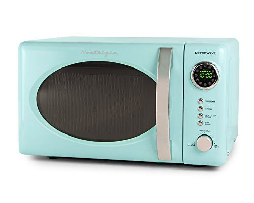 Nostalgia Rmo7aq Retro 0 7 Cubic Foot Microwave Oven Aq Https Www Amazon Com Dp B075tn House Of Turquoise Countertop Microwave Oven Countertop Microwave