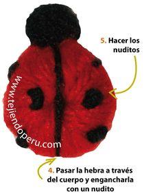 Cómo tejer mariquitas en crochet - crochet ladybugs