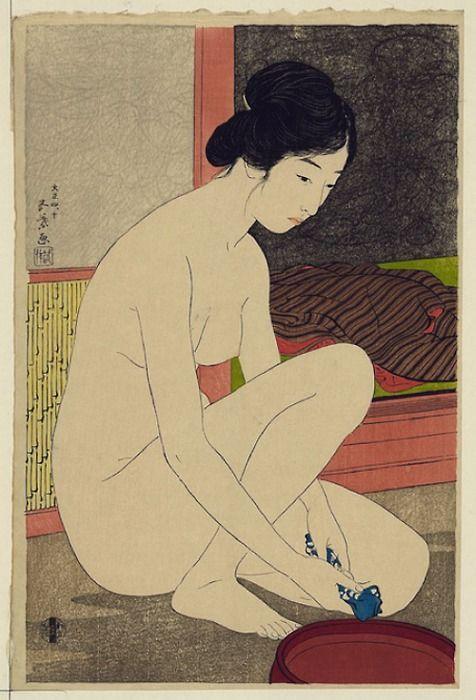Hashiguchi Goyō, Woman after a Bath, 1915