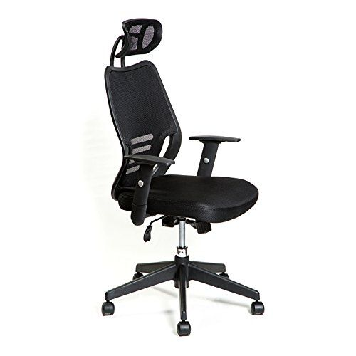 Hullr Modern Mesh Office Chair With Adjustable Headrest And Armrests Swivel Office Chair Office Chair Swivel Office Chair Mesh Office Chair