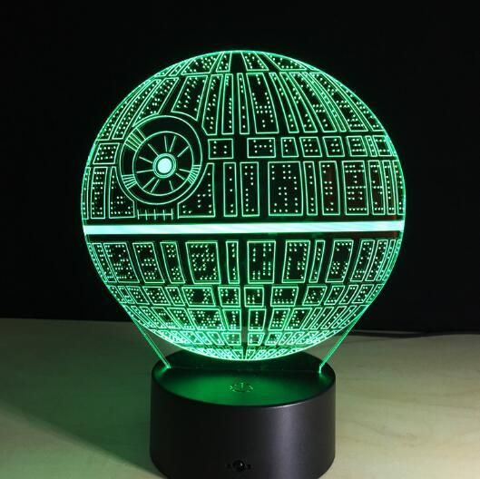3d Visual Illusion Transparent Acrylic Led Night Light Color Changing Lamp Star Wars Night Light 3d Led Night Light Star Night Light