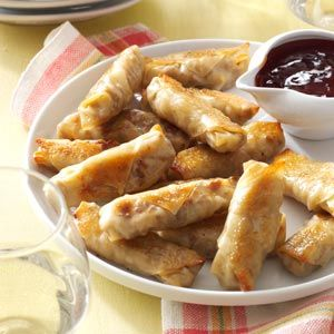 Crispy Baked Wontons Recipe from Taste of Home -- shared by Brianna Shade of Beaverton, Oregon