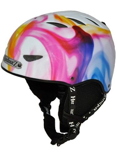 Hardnutz Womens Ink In Water Helmet White || ski & snowboarding