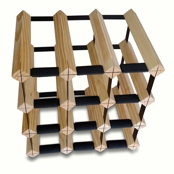 12 Bottle Timber Wine Rack Complete Storage Solution NOW Back IN Stock | eBay