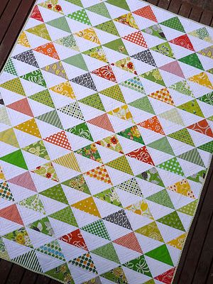 Quilting Blocks: Half Square Triangle Tutorial- different blocks that can be made with half square triangles!: