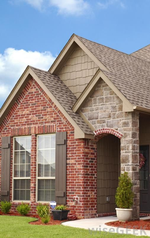 Siding addition to red brick house google search charing way pinterest different types - Exterior stone paint model ...