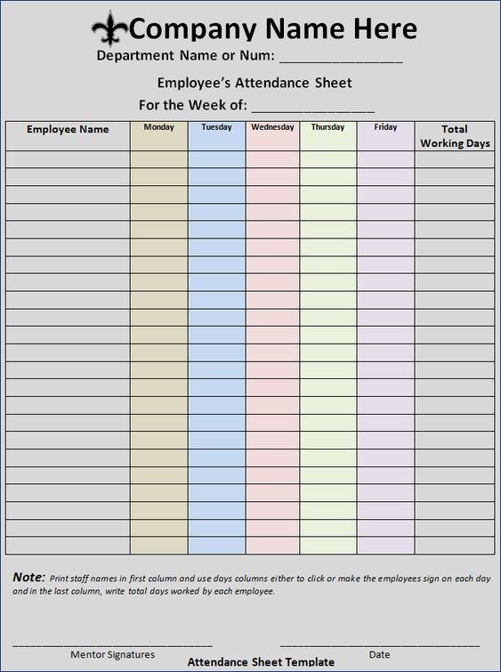 Activity Log Templates Business Formats Pinterest Logs and - attendance sheet for employees