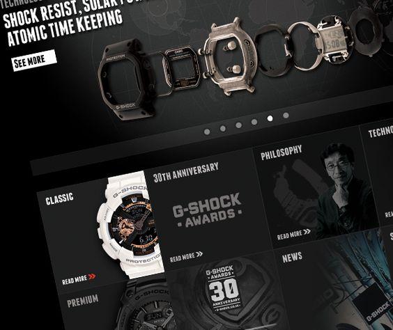 Casio G-Shock Website by Nadia Arioui, via Behance