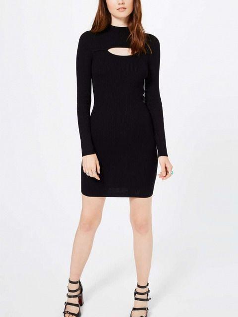 Black Cut Out Detail Dress | Irisie