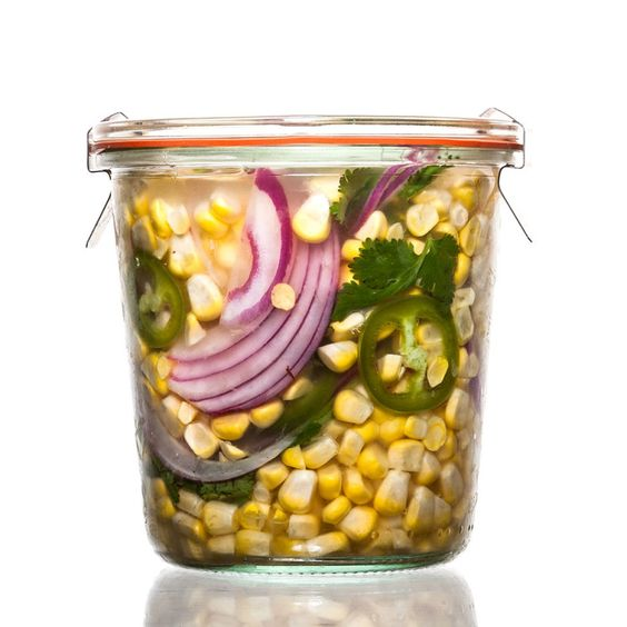 Jalapeño-Cilantro Pickled Corn // Think of crunchy, tangy, no-hassle quick pickles as the gateway to all things preserved.