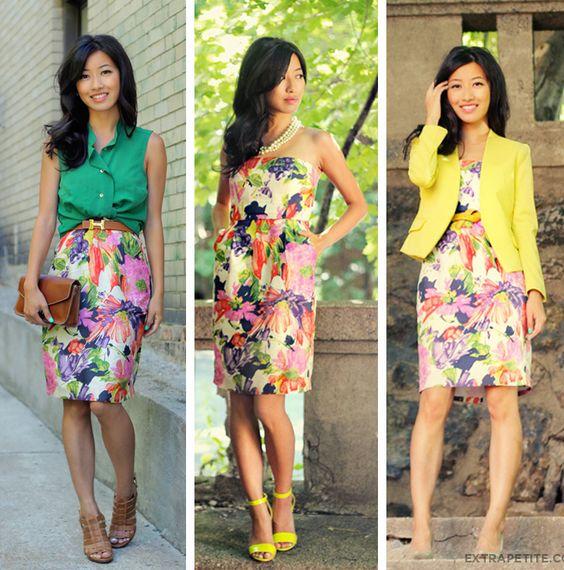 A blogueira do ExtraPetite.com nos mostra como montar três diferentes looks com o mesmo vestido. Com criatividade nossas roupas podem render muito mais.