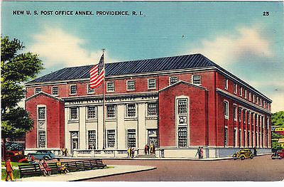 New U. S. Post Office Annex Providence Rhode Island Postcard