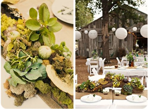 Nature themed wedding wedding theme inspired by nature pagan baby pin - Decoration table nature ...