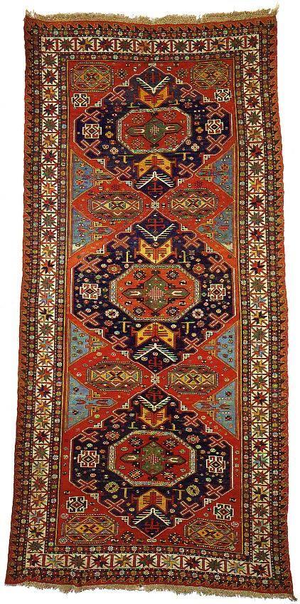 """Alberto Levi Gallery  sumakh carpet kuba area northeast caucasus circa 1870 363 x 175 cm (11'11"""" x 5'9"""")"""