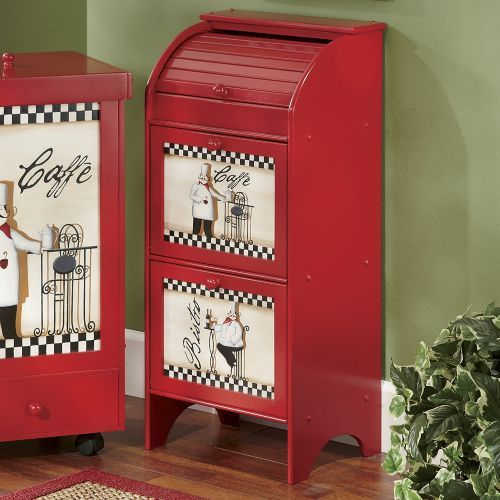 Chef kitchen bins from seventh avenue fat chef for Fat chef kitchen ideas