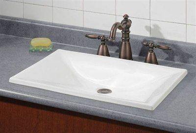 cheviot 1180 estoril drop in basin self rimming bathroom sink estoril drop in basin - Overmount Bathroom Sink