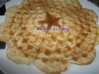 Receitas da Romy: Waffles simples