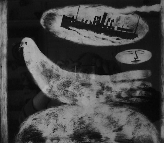 """Awake in your Wake"" by Charles Shearer (monoprint)"