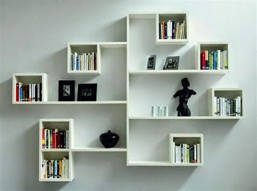 Decoration Wall Hanging Bookshelf Designs Closed Wall Shelves