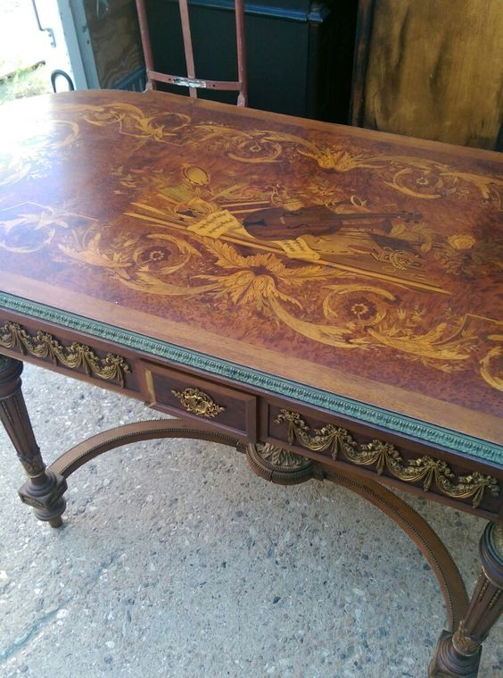 Incredible Inlayed French Table