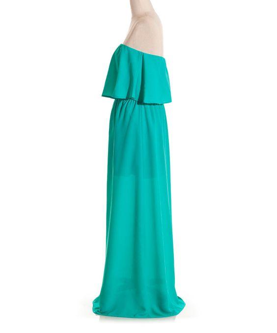 maxi dress ruffle top