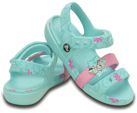 One of our lightest, easiest sandals gets a special Frozen™ Fever makeover. Choose Anna™ or Elsa™ (based on the sandal color) and dash off to play. Your princess will love details like the attached badges and graphics, as well as the unmatched Crocs comfort. Croslite™ foam construction delivers plenty of cushion, and the adjustable closure gives her a secure fit. Free shipping on qualifying orders.