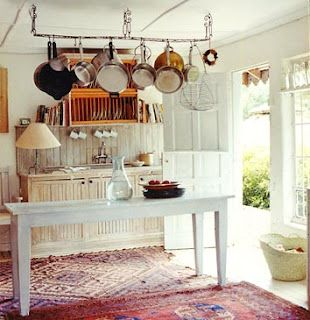 kelim in the kitchen