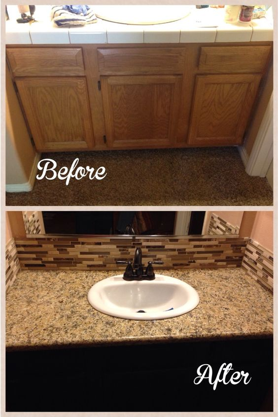 Diy bathroom remodel bathroom and diy and crafts on pinterest for Diy bathroom remodel before and after