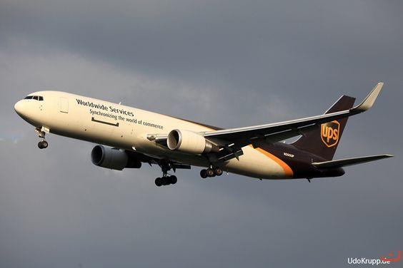 N355UP, Bild vom 28.08.2016 in Köln, (CGN), CN 37863, B-767-34AF (ER), (WL), UPS